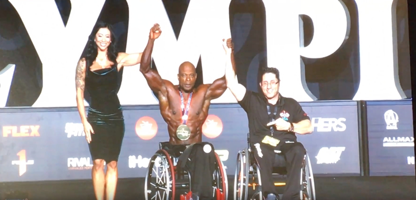 Reggie Bennett at Mr. Olympia 2018